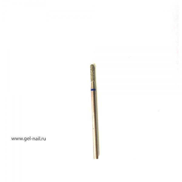 Фреза алмазная закругленная синяя насечка диаметр 3мм