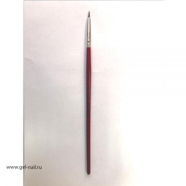 Кисть Nail Art Brush 0, длина 6мм