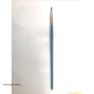 Кисть Nail Art Brush 00, длина 6мм