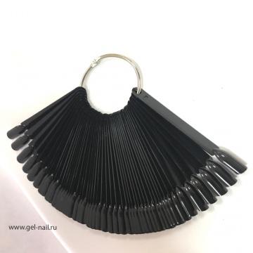 Типсы черные 50 штук кольцо