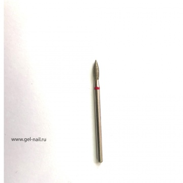 Фреза алмазная пламя красная насечка диаметр 4мм