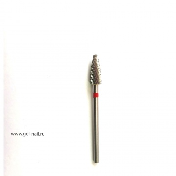 Фреза твердосплавная закруленный конус красная сечка диаметр 5мм