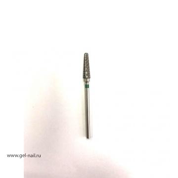 Фреза твердосплавная конус зеленая насечка диаметр 0,5мм