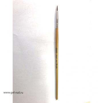 Кисть Nail Art Brush 0000, длина 9мм