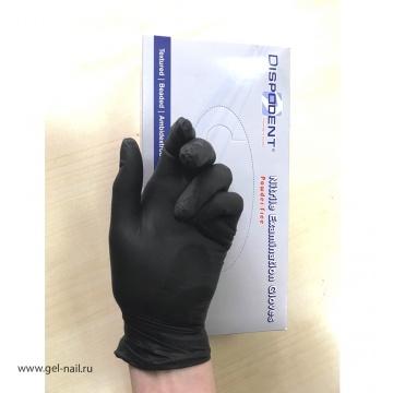 Перчатки черные нитриловые размеры X и S